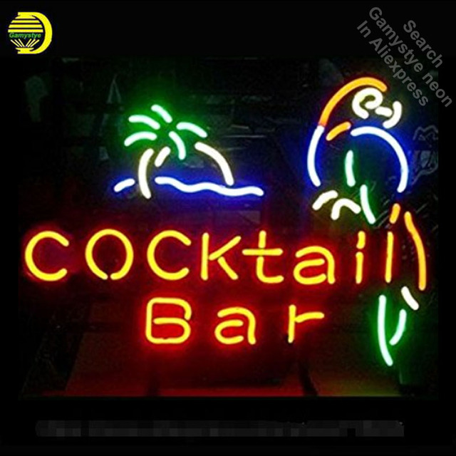 Neon Sign for Cocktail Bar neon bulb Sign Beer Bar pub Neon lights Sign glass Tube Handcraft Iconic Bulbs Super Bright club lamp