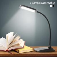 360 Degree Foldabing Office Table LED Lamp USB Rechargeable Light Touch Sensor Eyecare Dimmable Reading Study