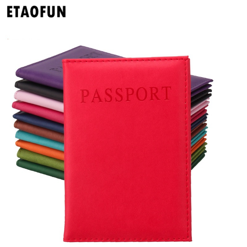 Etaofun PU leather passport cover 2018 on men's card holder