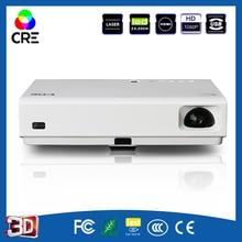 Multimedia Proyector HD 3000 Lúmenes 3LED home video wifi beamer menor ruido estructura en altavoz para el envío libre