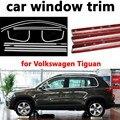 Внешние аксессуары для автомобиля  декоративные полосы для стайлинга  оконная отделка из нержавеющей стали для Volkswagen Tiguan без колонны