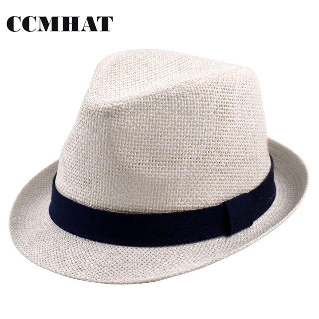 CCMHAT Baby Fedora Straw Hat Black Ribbon Summer Girls Beach Pater Sun Hats  Caps Kids Girls  Accessories Children Caps For Girls 21f2552b77c
