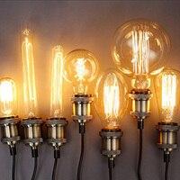 SUNLI HOUSE Retro Edison Bulb 1PCS 40W Vintage Lamp E27 Filament ST64 Light Bulb Warm 220V
