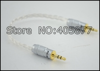 A HD002 OCC Silver Plated 3 5MM Headphone Cable DAC Cable Gold Plated Connector