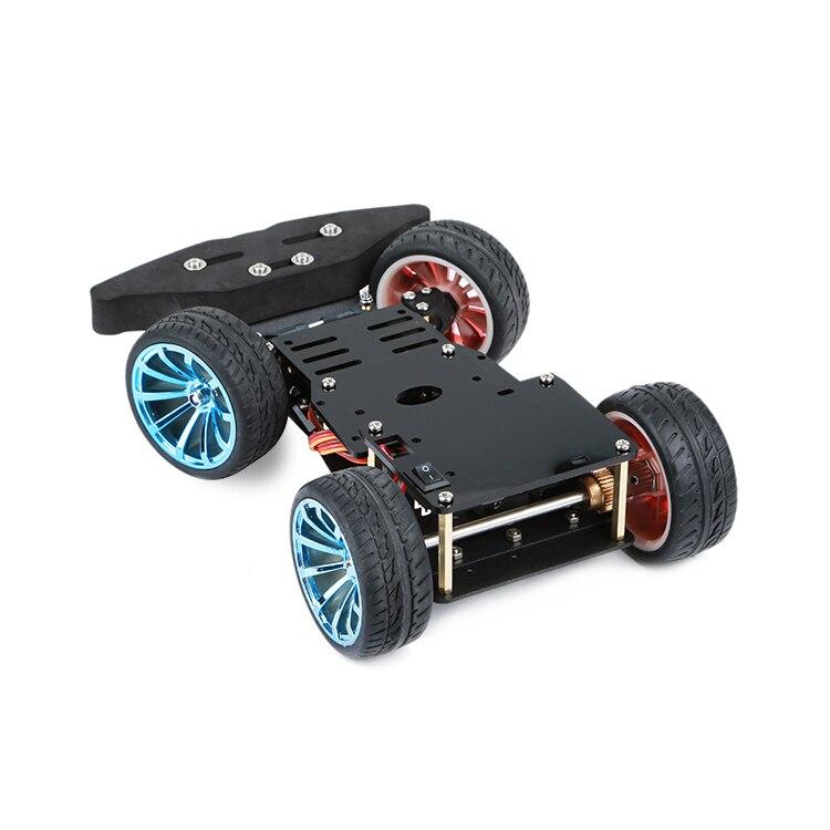 Intelligent vehicle, steering gear steering, 4WD car, rear drive, metal motor, PS2 control