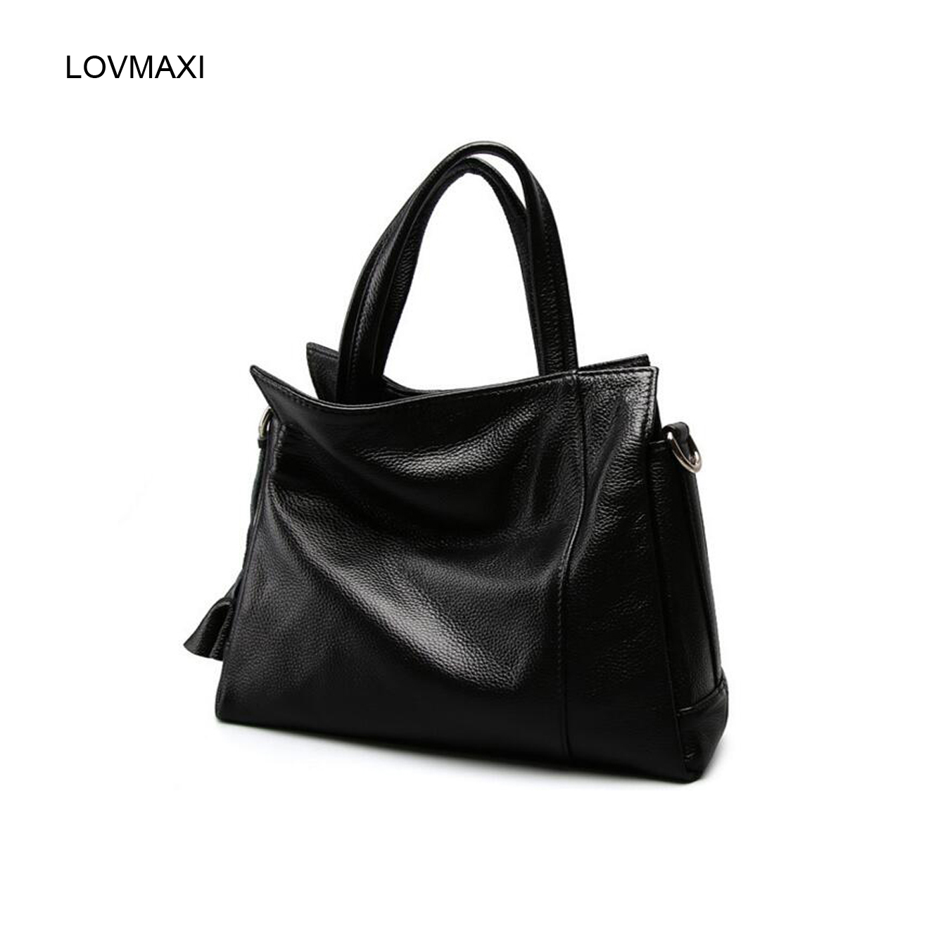 ФОТО 2017 Hot genuine leather Women's handbags women large tote bags flower tassel Casual messenger bags Female shoulder bags