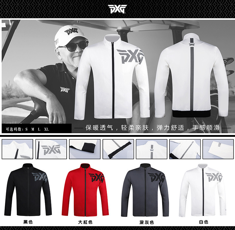 PXG Golf Double layer Jacket Outdoor Zipper Clothing Jacket Long Sleeve Men's Golf Training Jacket S-XXL Men's 4 Colors No Pocke 2016 new womens golf tshirts branded high quality dobby long sleeve breathable s 2xl 4 colors golf sport clothing free shipping