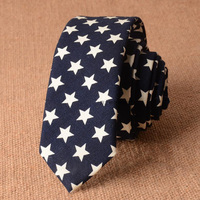 Mens Cotone Tie Stelle Navy Blu Cravatta Sottile 2017 Del Nuovo Progettista Skinny Uomini 5 cm Cravatta Stile di Estate Biancheria Stretta Gravata Piccoli Cravatte