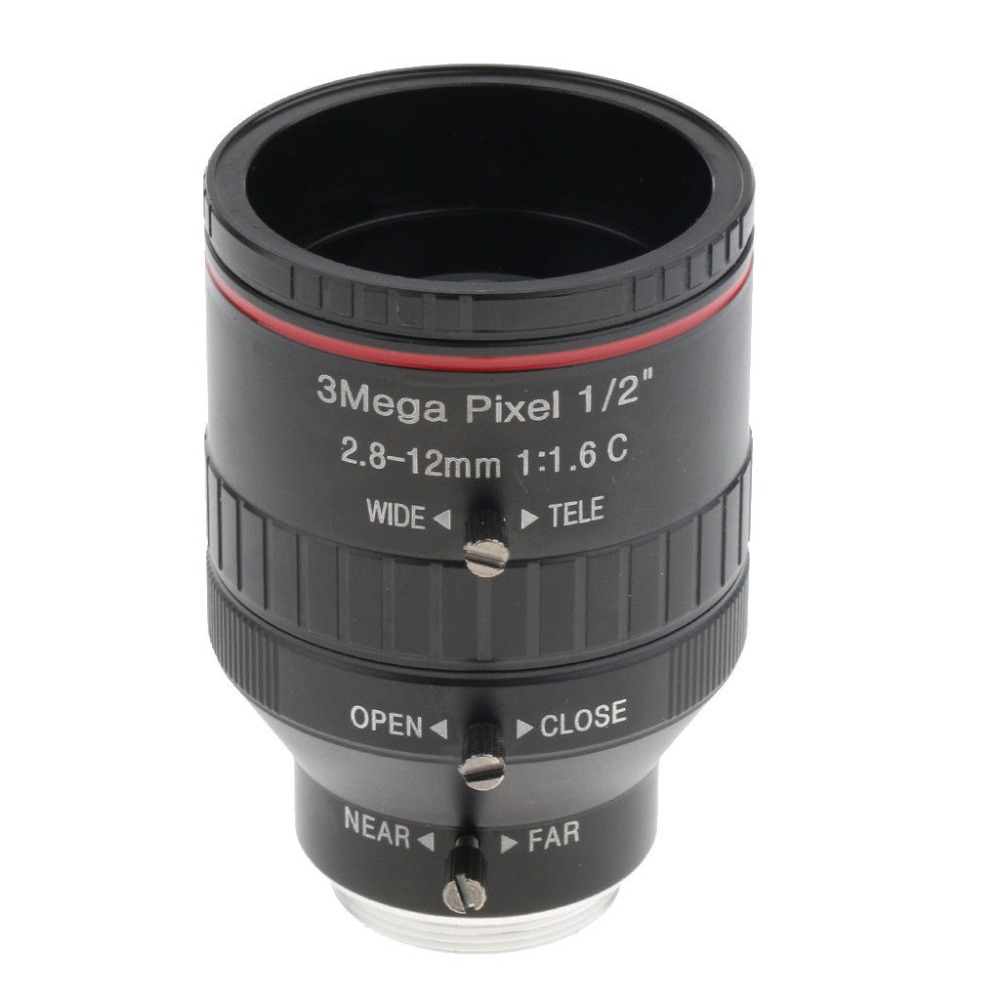 2 8mm 12mm 1 2 F1 6 C Manual Iris Focus Zoom Lens CS Mount for