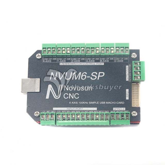 USBMACH3 Interface Breakout Board Card 3 Axis/4 Axis/5 Axis/6 Axis Controller CNC 100KHz Stepper Motor Driver NVUM