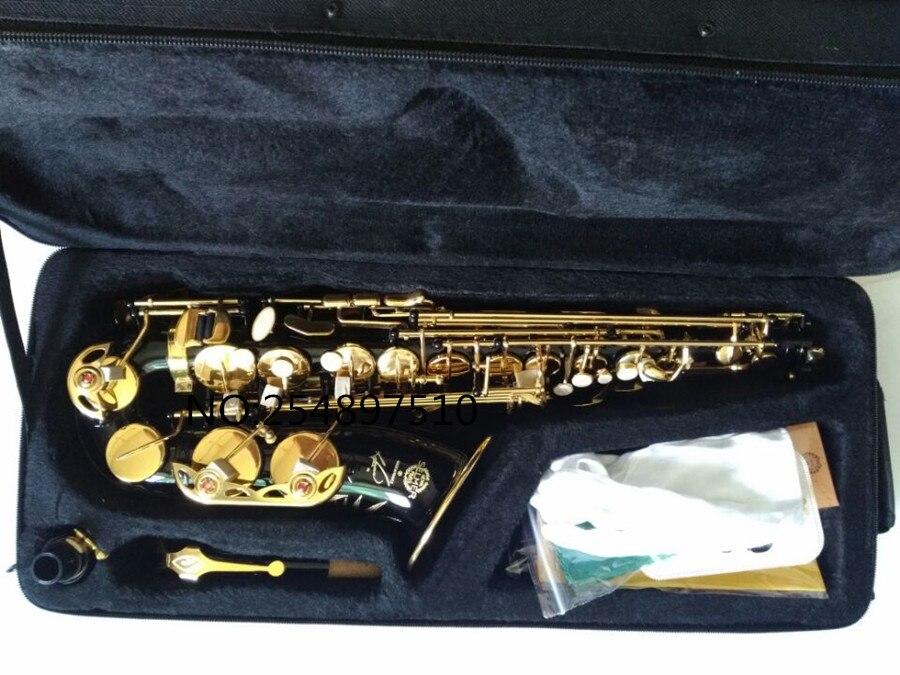 Offre Spéciale saxophone noir Alto laiton gravure SELMER SAS-R54 mode noir or Sax instruments de musique professionnel saxophone - 6