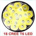 2016 18 *T6 high power led flashlight lamp super bright aluminum led flashlight powerful torch
