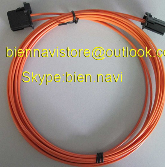 100%Original new optical fiber cable most cable for B-M-W A-U-D-I AMP Bluetooth car GPS car fiber cable for nbt cic 2g 3g 3g+