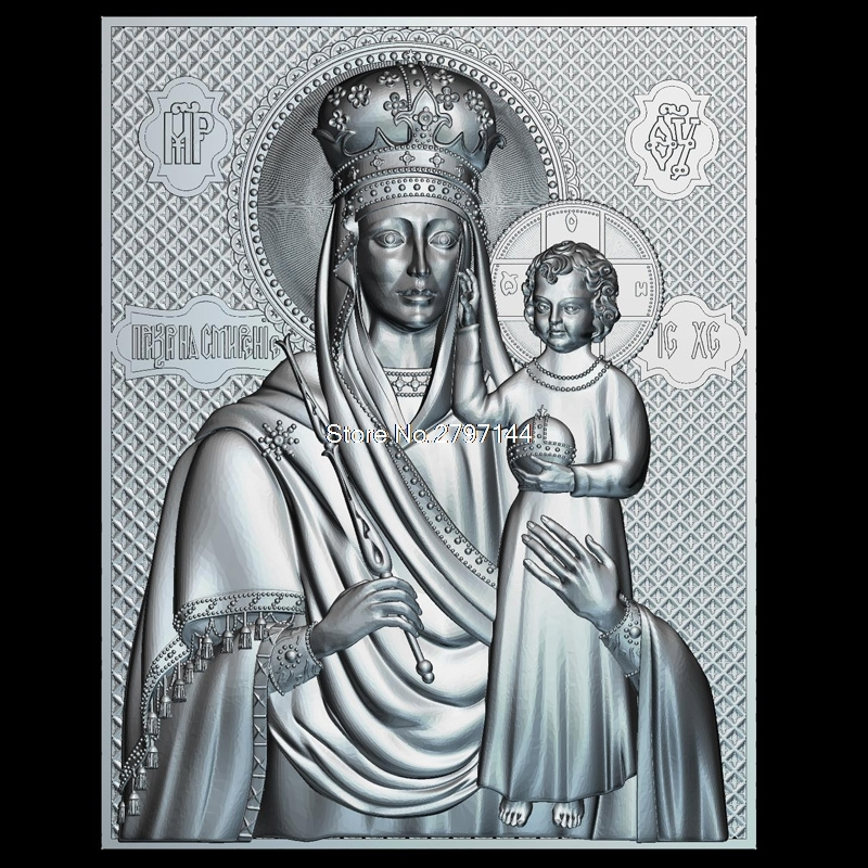 High Quality New 3D Model For Cnc Mother Of God Look Down On Humility 3D Carved Figure Sculpture Machine In STL File Religion