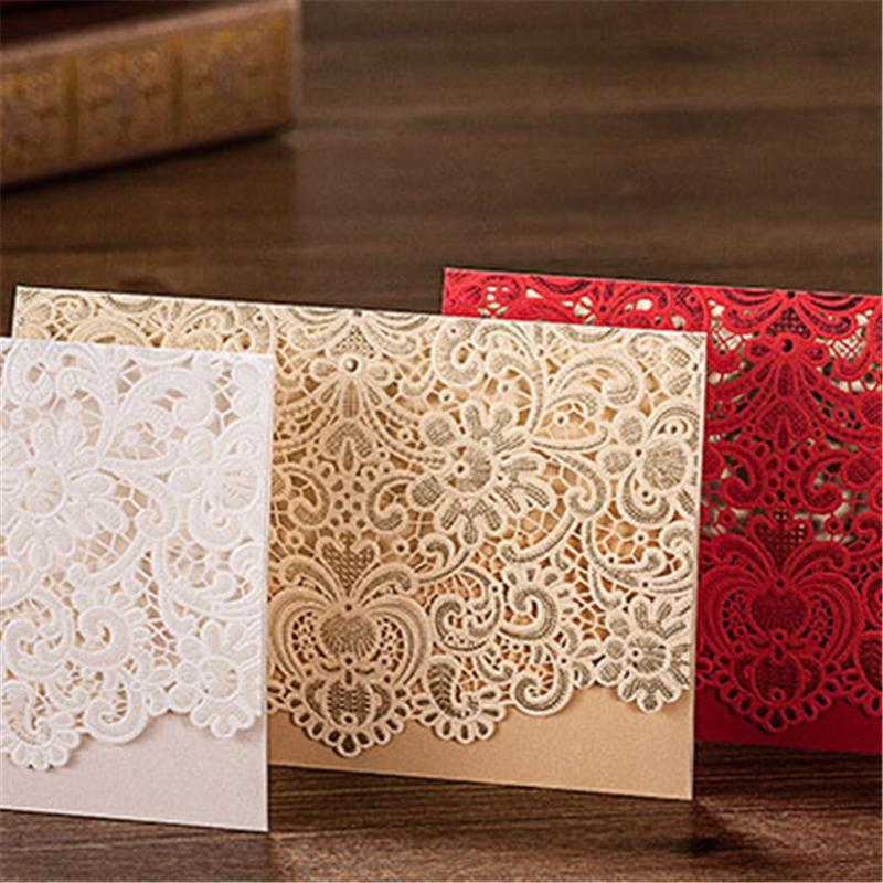 50pcs/lot Casamento Personalized Laser Cut Hand Fan Wedding Invitations China Made Convite  Event & Party Supplies CW1101 square design white laser cut invitations kit blanl paper printing wedding invitation card set send envelope casamento convite