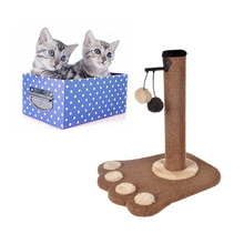 41cm Cat Climbing Tree Scratching Post Board and Hanging Toy Home Pet Activity Center soft plush providing comfort for cats-in Furniture & Scratchers from Home & Garden