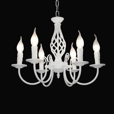 Amercian Candle LED Chandelier Light Fixtures For Living Dining Room Iron Hanging Lamp Indoor Lighting Simple DropLight modern crystal chandelier led hanging lighting european style glass chandeliers light for living dining room restaurant decor