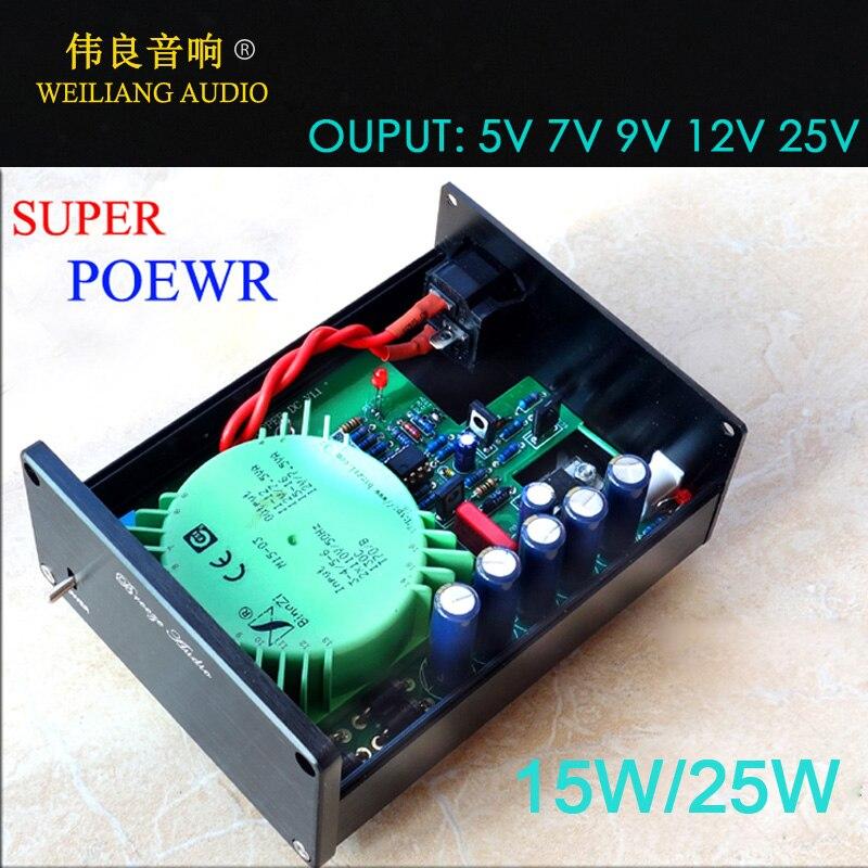 15W 25W Linear power supply Refer to STUDER900 regulated power supply 5V 7V 9V 12V 15V
