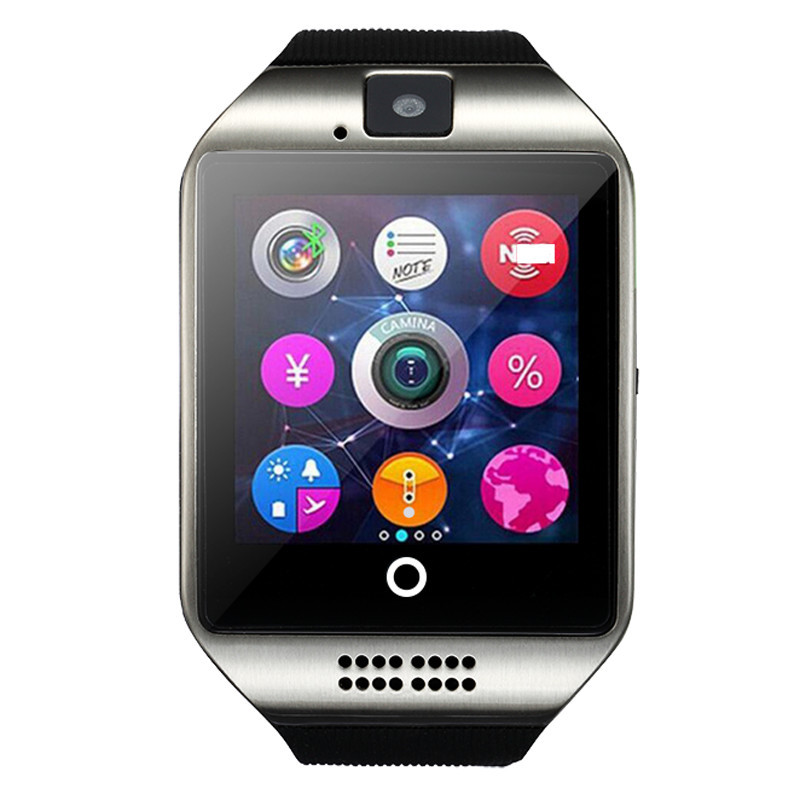 2017 fashion smart watch q18, Smartwatch, support SIM TF card, camera MP3 Bluetooth smart clock, GSM phone for xiaomi Huawei
