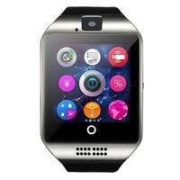 2017 moda elegante reloj q18, Smartwatch, apoyo TF tarjeta SIM, cámara MP3 Bluetooth reloj inteligente, GSM teléfono de xiaomi Huawei