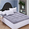 twin single double Queen king size quilted Foam Mattress Topper with Straps Five Star Hotel Style