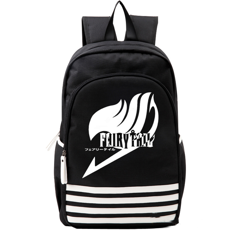Japan Anime Fairy Tale Oxford Schoolbag Cosplay Black White Stripe Backpack Shoulders Bag Boys Girls Gift anime tokyo ghoul dark in light luminous satchel backpack schoolbag shoulder bag boys gilrs cosplay gifts