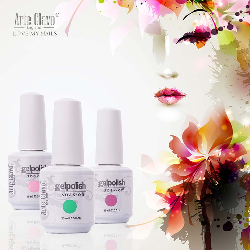 Arte Clavo 15ml Arte Clavo Nail Art Paint UV Gel Fransk Nails Gellack Färgad Nail UV Gel Polish