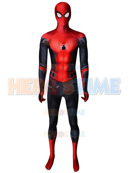 Spiderman Cosplay Costume Spandex Printed Fullbody Spider-Man Far From Home Zentai Suit Halloween Party Bodysuit Custom Made