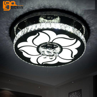 High Quality Modern Bedroom LED Ceiling Light Dia55 H15cm Lustre Cristal Verlichting Plafond For Home