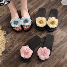 Flower Women Sandals Platform Flat Sandals Slippers Spring/Summer Pink/Yellow/Blue Female Shoes Casual Lady Shoes Woman Footwear цена и фото