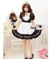 Hot sales! Maid Kostuum Sweet Gothic Lolita Jurk Anime Cosplay Maid Uniform Kostuums Voor Vrouwen