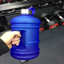 1.3L Scrub Large Capacity Sports Water Bottle Leak Proof Portable Travel Gym Fitness Dumbbell Plastic Drink BPA Free