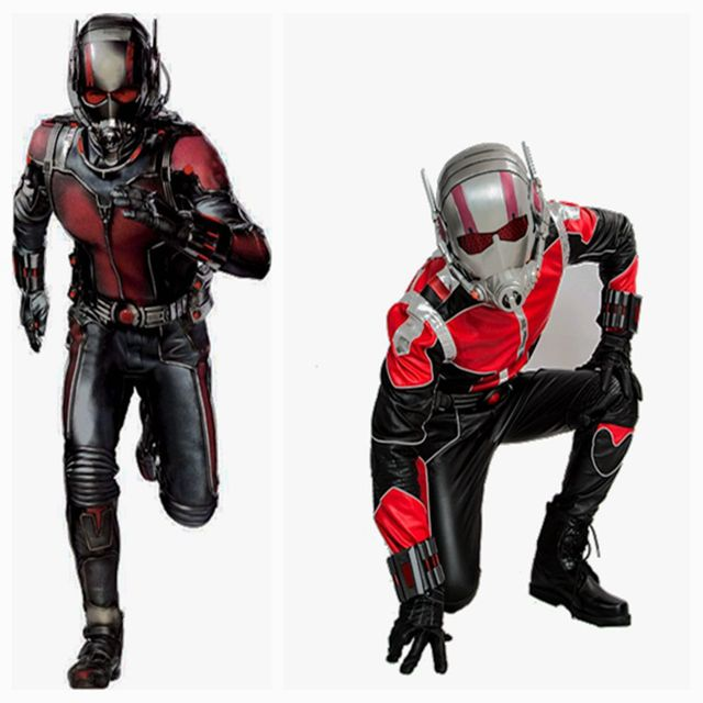 Coslive Ant-man Dress Outfit COSplay Jumpsuit PU Superhero Costume Deluxe Full Sets Men Prop Replica Ant Man Cosplay