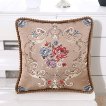 European-style sofa cushion cover pillow embroidery flower car home hotel decoration