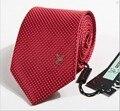 International big 100% mulberry silk jacquard stripe casual men's arrow type tie