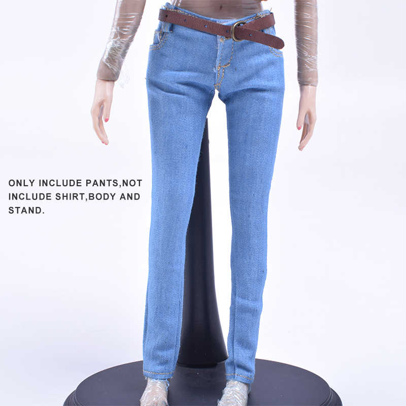 1//6 Scale Skinny Jeans Pants 12inch Female Action Figure Clothes Accessories