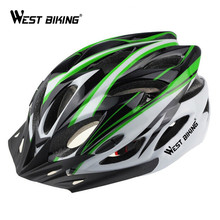 WEST BIKING Bicycle Helmet MTB Road Upgrade Model Trinity Dual Use Cycling EPS+PC Bike Adjustable Micro Helmets Visor Lining Pad(China)
