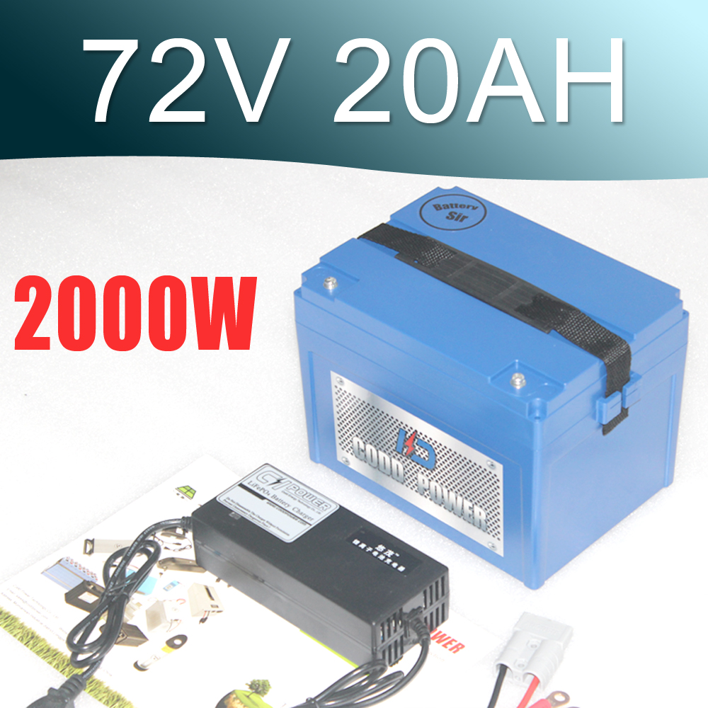 <font><b>72V</b></font> <font><b>20AH</b></font> <font><b>Lithium</b></font> <font><b>Battery</b></font> with 3000W BMS RC E-bike Electric Bicycle Scooter image