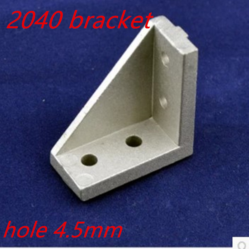 10pcs 2040 20 x 40  Corner Fitting Angle Brackets Connector Fasten  Long Hole for Aluminum Profile 2020 цена и фото