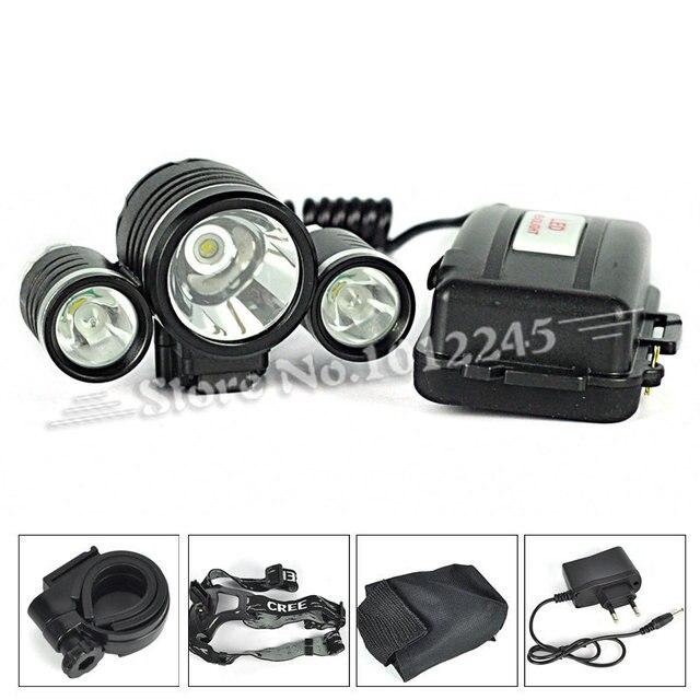 5000 Lumen 1T6+2R2 Bke Bicycle Light & Headlamp Head Light Climbing Riding Headlight Head Lamp Flashlight with Charger 5000 Lm