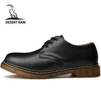 Брендовые мужские ботинки в стиле «Дезерт Рам», большие размеры 35-46, Новые повседневные кожаные ботинки Martens Doc martins, Мужская обувь в стиле ми...