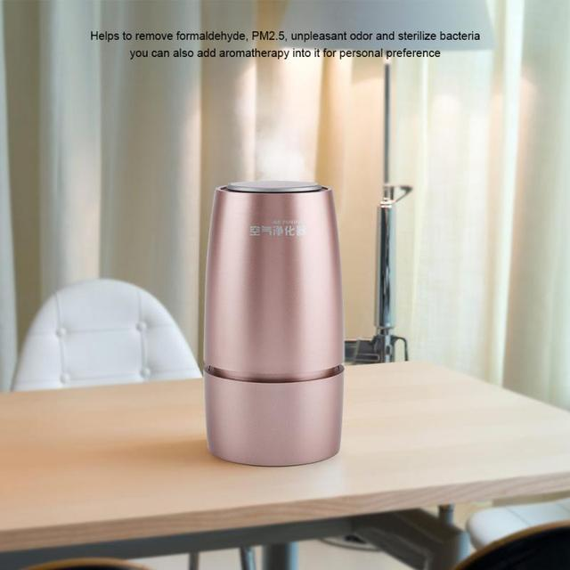 Portable USB Desktop Ionizer Air Purifier Cleaner Negative Ion Anion Generator Freshener For Car and House