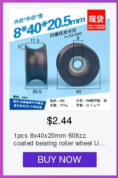 1 шт. 8x30x10 мм Высокое качество delrin POM пластик 608zz шарикоподшипник ролик плоское колесо для алюминиевого рельса dprofile