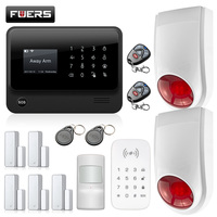 FUERS 3G G90B WIFI 2.4G GSM Wireless Home Security Alarm System English Russian French Spanish Dutch Swedish Turkish Switch