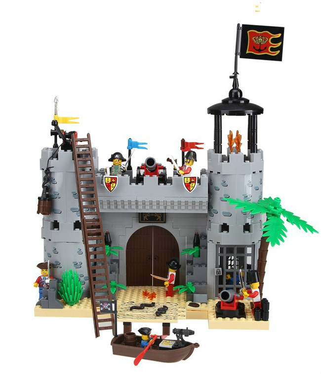 Enlighten Castle Series Pirates Robbery Barracks Model Building Blocks Sets figures Kids Toys Gift Compatible With Legoe