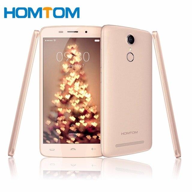 Ht17 homtom pro 5.5 pulgadas hd quad core smartphone 2 gb RAM 16 GB ROM Android 6.0 13MP 1280x720 IDENTIFICACIÓN de la huella digital Móvil teléfono