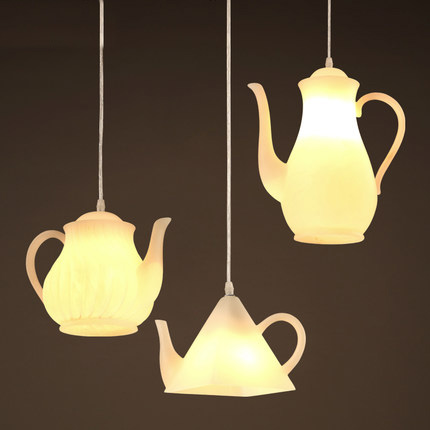 Northern europe simple pendant lamp creative teapot for Grande suspension luminaire