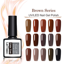 LEMOOC 8ml Brown Series Gel Nail Polish Semi Permanent Soak Off UV/LED Varnish 24  Colors Available Lacqure