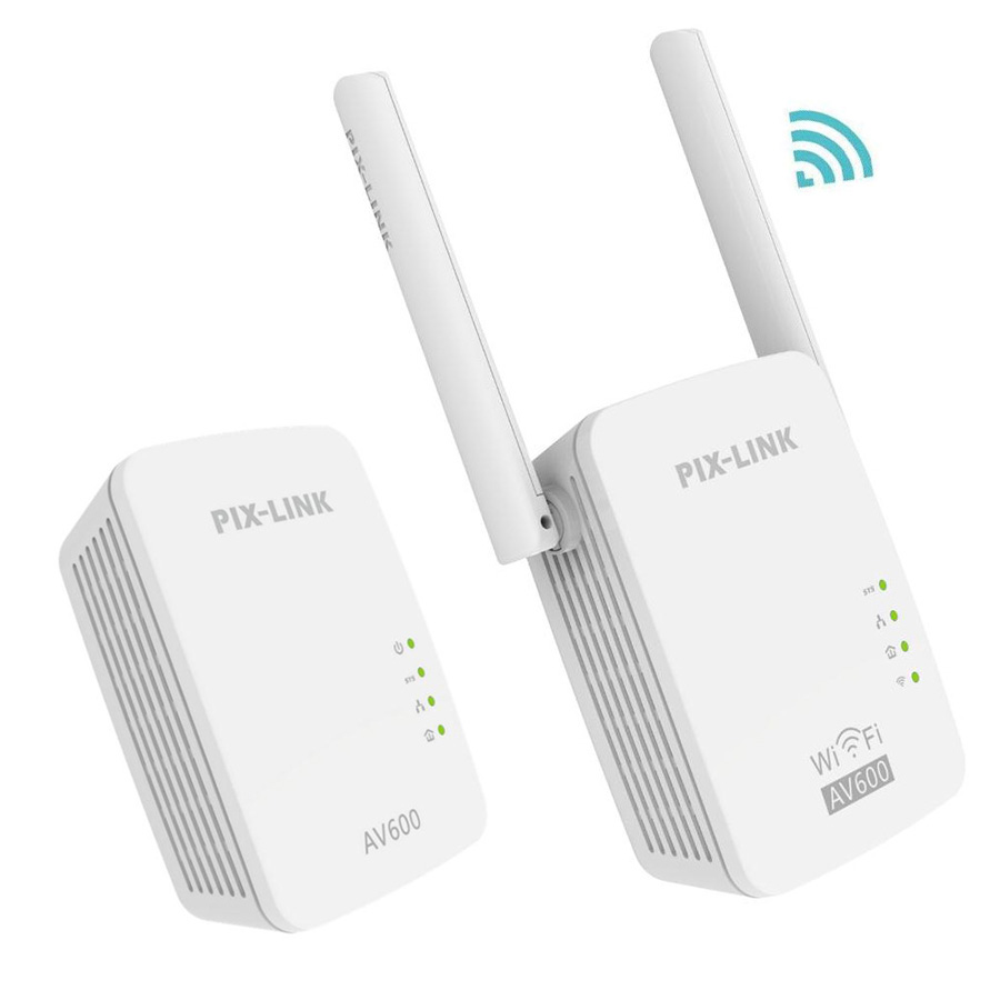 1Pair PIXLINK AV600 600Mbps Powerline Adapter 300Mbps Wirless WIFI Ethernet Homeplug Network Router Range Extender Repeater NEW1Pair PIXLINK AV600 600Mbps Powerline Adapter 300Mbps Wirless WIFI Ethernet Homeplug Network Router Range Extender Repeater NEW