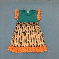 Wholesale Price New Baby Dress Polka Dot Toddler Girls Dresses Summer Feather Pattern Children Remake Clothing